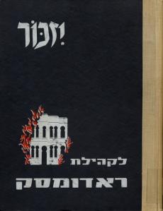 Radomsk yizkor book cover