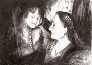 ania goldman i babcia grafika
